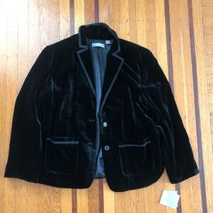 NEW Liz Claiborne black velvet blazer 22W coat